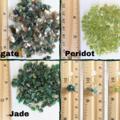 Dainty Green Gemstone chip cluster dangling earrings , Agate Peridot Jade