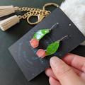 Bell Flower Drop Earrings (Pink) - Handmade Kawaii Flowers