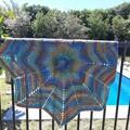 Rainbow Star baby blanket, throw, baby shower gift, Crochet blanket, swaddle