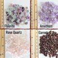 Gemstone chip cluster dangling earrings , Fluorite Amethyst Garnet Rose Quartz