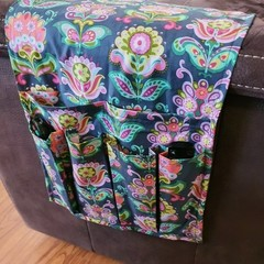 Homemade Fabric Bed Sofa Couch Arm Rest Remote Control Organiser Drink Holder