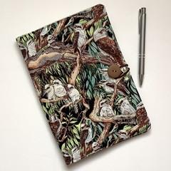 Australian kookaburras  A5 Fabric Compendium
