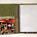 Wild mushrooms A5 Fabric Compendium