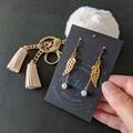 Angel Wing Dangle Earrings (nickel-free hooks)