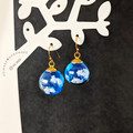 Blue Sky x White Clouds Drop Earrings - Handmade Kawaii Heaven