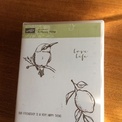 """Stampin'Up """"A happy thing"""" stamp set"""