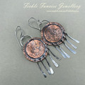 OOAK Copper and Silver Wind Chime Earrings