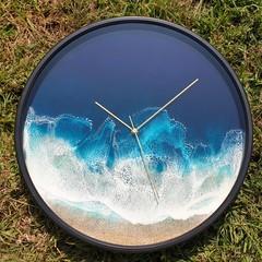 38 cm Beach Resin Art Wall Clock