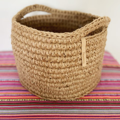 Big Crochet Jute Basket