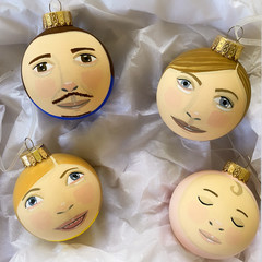 Custom portrait bauble