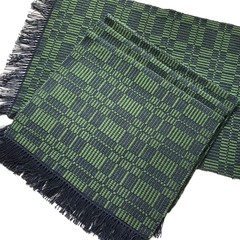 Handwoven Placemats Cotton Set of 4 Navy/Green Reversible