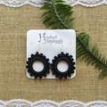 Crochet Boho Hoop Earrings