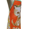 Metro Retro - Knitting Cat or Naughty Smoking Dogs - Vintage Tea Towel APRON