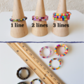 Simple colourful Rainbow seed bead memory wire ring , Adjust from US8 1/2