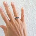 Dark Metallic bead wire wrapped ring , Green Black Blue Purple