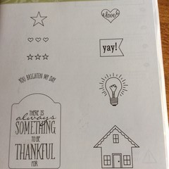 """Stampin'Up """"You brighten my Day """" stamp set"""