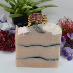 Rose Goat Milk or Coconut Milk Soap with Activated Charcoal