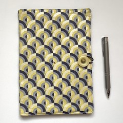 lemon/gray shimmer curves A5 Fabric Compendium
