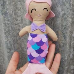 Handmade mini mermaid doll