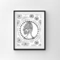 Vintage Floral Woman Instant Download set of 3