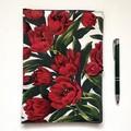 Red tulips A5 Fabric Compendium