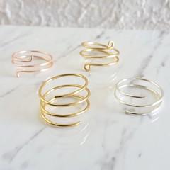Simple spiral wire ring , Gold Silver Rose gold , Wire wrap Stack Stacking ring