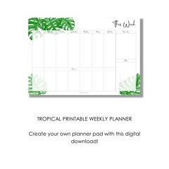 Printable Tropical Weekly Planner (Digital Download)