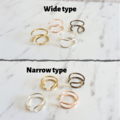 Simple Double wire earcuff , Gold Silver Rose gold Brown , Ear Hug Huggie Hugger