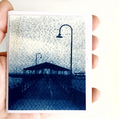 Small Artist Book, Mini Zine containing original cyanotypes