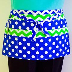 Utility teacher vendor waitress server daycare apron - 6 pockets