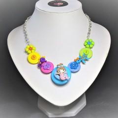 Girl's Mermaid necklace (Rainbow)