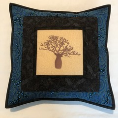 Australiana cushion cover - 'On Walkabout' -blue
