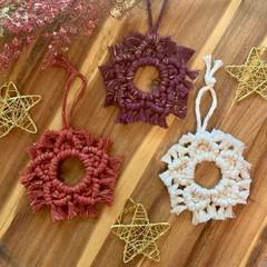 Macrame Christmas star decoration