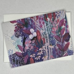 Botanical floral Art Greeting Card 10