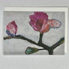 Botanical floral Art Greeting Card 2