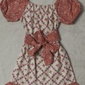 Peasant dress - cotton poplin - orange and lemon