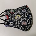 NIghtmare before Christmas facemask. XL size for adult male/female.
