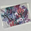 Botanical floral Art Greeting Card 4