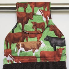 Mixed cattle breeds Designer Hand Towel