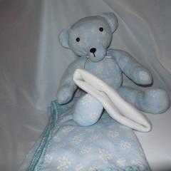 Teddy Bear/Swaddle Cloth and Beanie