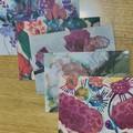 Bundle of 5 Botanical floral Art Greeting Cards