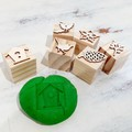 Wooden Dough Imprint Blocks - BIRD & BOTANICAL Set