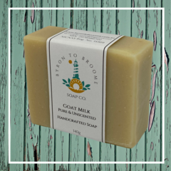 Goat Milk Handcrafted Soap ~ Pure & Unscented | 140g Bar - Palm Oil Free