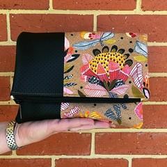 Order for Liz: Fold Over Clutch - Protea Pop
