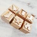 Wooden Dough Imprint Blocks - CHRISTMAS Set