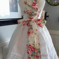 Stunning appliqued  corset back sun dress size 8