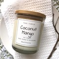 Highly Scented Soy Candle - Coconut Mango | Fruity Fragrance