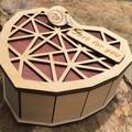 3D Wooden 3D Heart Box # 3. Birch Top. FREE Shipping