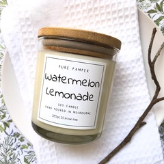 Highly Scented Soy Candle - Watermelon Lemonade | Sweet Fruity Fragrance