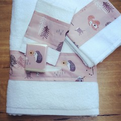Towel sets. Click for more styles.